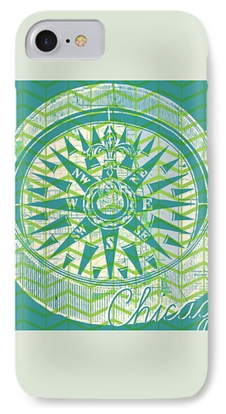 Chicago Compass IPhone Case by Brandi Fitzgerald