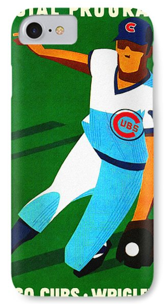 Chicago Cubs 1972 Official Program IPhone Case by Big 88 Artworks