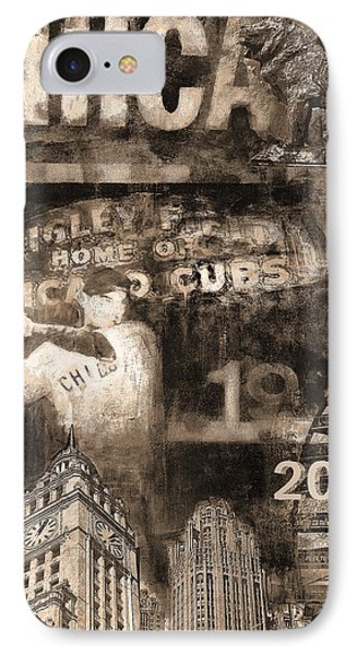 Chicago Cubs 2016 World Series Champions In Sepi IPhone Case by Joseph Catanzaro