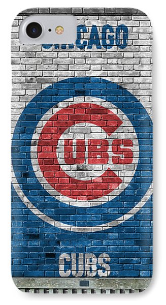 City Scenes iPhone 7 Case - Chicago Cubs Brick Wall by Joe Hamilton