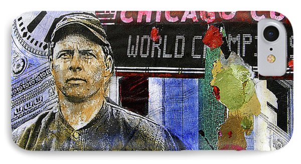 Chicago Cubs Painting - 2016 World Series Champions IPhone Case by Joseph Catanzaro