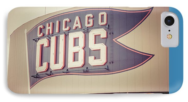 Chicago Cubs Sign Vintage Picture IPhone 7 Case by Paul Velgos