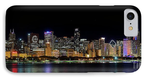 Chicago Cubs Skyline IPhone Case by Jeff Lewis