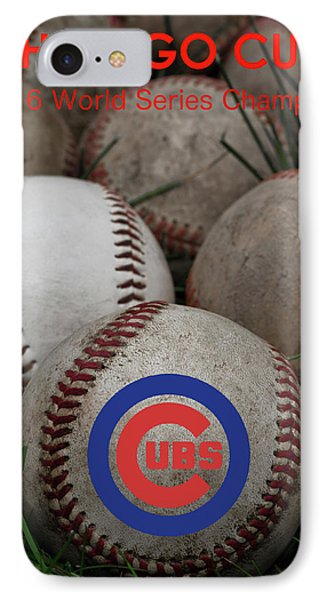 Chicago Cubs World Series Poster IPhone Case by David Patterson