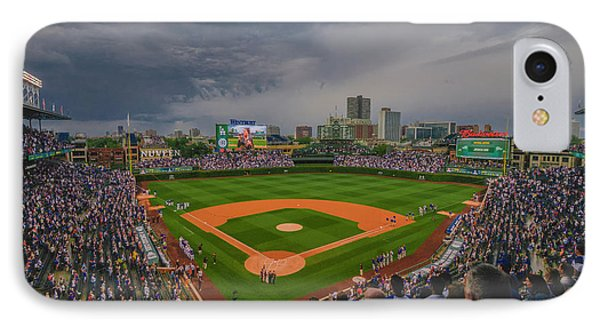 Chicago Cubs Wrigley Field 4 8213 IPhone Case by David Haskett