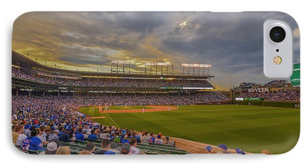 Chicago Cubs Wrigley Field 6 8252 IPhone Case by David Haskett
