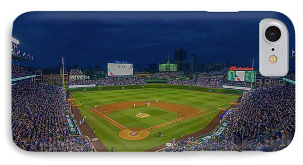 Chicago Cubs Wrigley Field 9 8357 IPhone Case by David Haskett