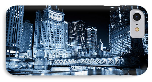 Chicago Downtown Loop At Night IPhone Case by Paul Velgos