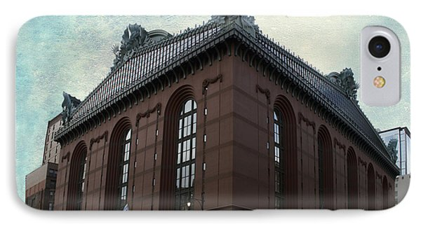 Chicago Downtown Public Library Textured IPhone Case by Thomas Woolworth