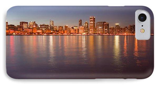 Chicago Dusk Skyline Panoramic  IPhone Case