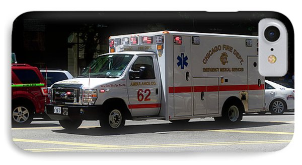 Chicago Fire Department Ems Ambulance 62 IPhone Case by Thomas Woolworth