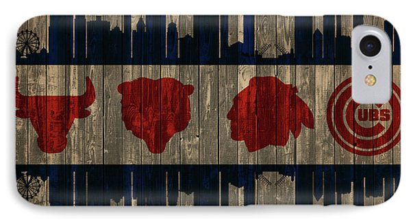 Chicago Flag Barn Door IPhone Case by Dan Sproul