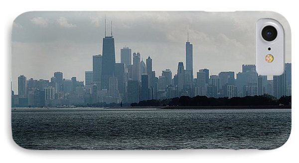 Chicago From Belmont Harbor IPhone Case by Todd Sherlock