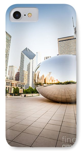 Chicago Gloud Gate And Chicago Skyline Photo IPhone 7 Case by Paul Velgos