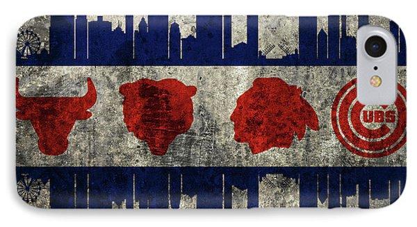 Chicago Grunge Flag IPhone Case
