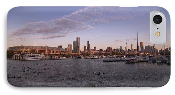 Chicago Harbor And Skyline Phone Case by Sven Brogren