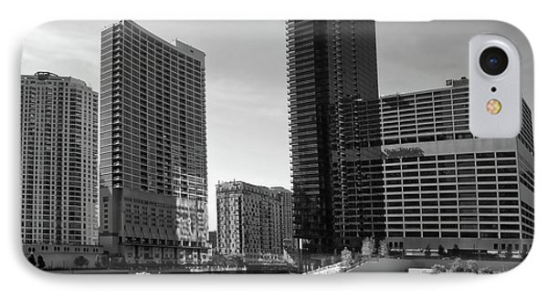 Chicago Heading Up The North River Branch Bw IPhone Case by Thomas Woolworth