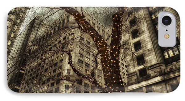 Chicago In November Holiday Lights Pa IPhone Case by Thomas Woolworth