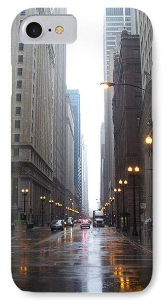 Chicago In The Rain 2 Phone Case by Anita Burgermeister