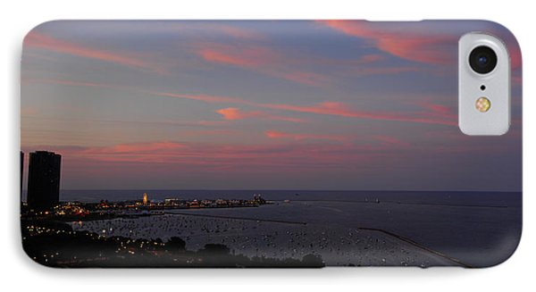 Chicago Lakefront At Sunset IPhone Case by Michael Bessler