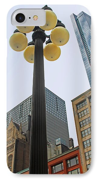 Chicago Lampost IPhone Case by Cheryl Del Toro