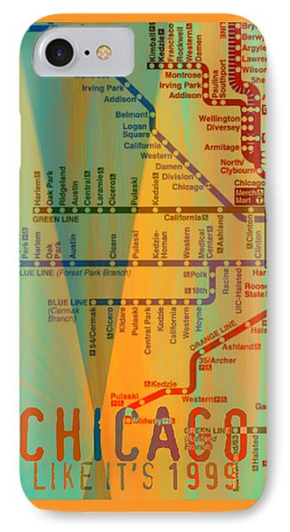 Chicago Like It's 1999 IPhone Case by Brandi Fitzgerald