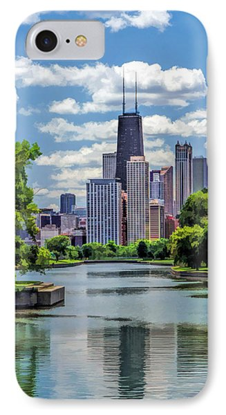 IPhone 7 Case featuring the painting Chicago Lincoln Park Lagoon by Christopher Arndt