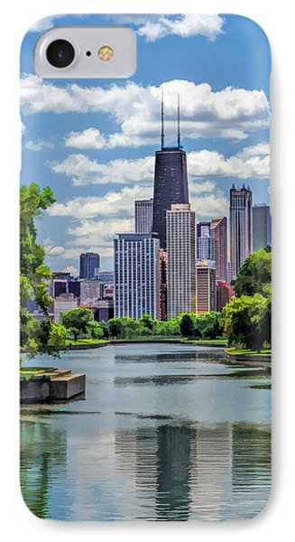 IPhone Case featuring the painting Chicago Lincoln Park Lagoon by Christopher Arndt
