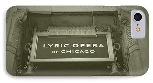 Chicago Lyric Opera House Signage Aged IPhone Case by Thomas Woolworth