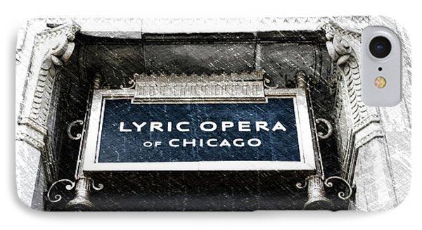 Chicago Lyric Opera House Signage Pa 01 IPhone Case by Thomas Woolworth
