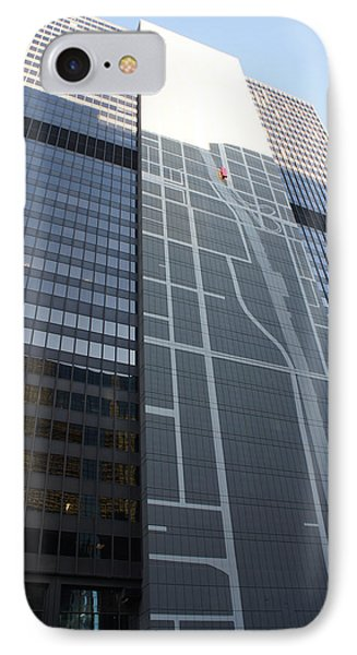 Chicago Map Mural On Office Building IPhone Case