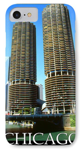 Chicago Marina City - Poster Art IPhone Case by Art America Gallery Peter Potter