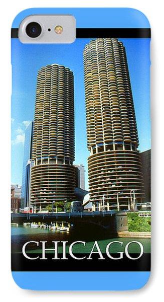 Chicago Poster - Marina City IPhone Case