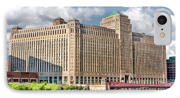 IPhone Case featuring the painting Chicago Merchandise Mart by Christopher Arndt