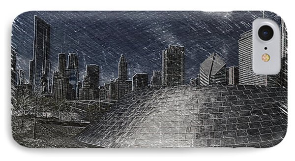 Chicago Millennium Park Bp Bridge Pa 02 IPhone Case by Thomas Woolworth
