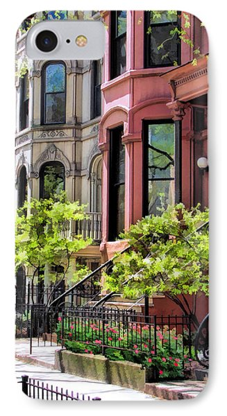 IPhone Case featuring the painting Chicago North Shore Greystones by Christopher Arndt