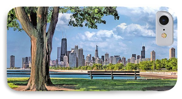 Chicago North Skyline Park IPhone Case by Christopher Arndt