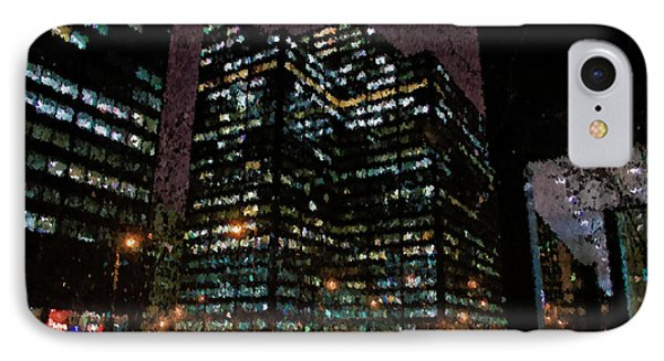 Chicago November Night Pa 02 IPhone Case by Thomas Woolworth