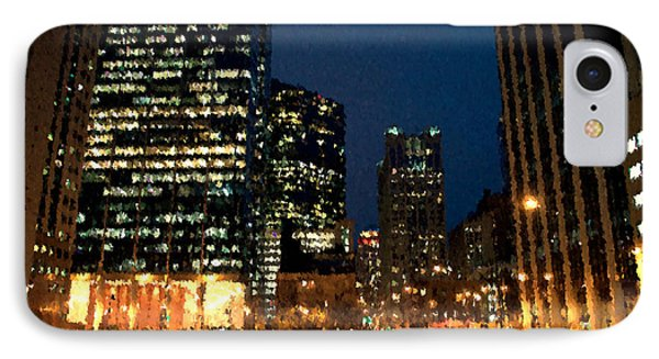 Chicago November Night Pa 03 IPhone Case by Thomas Woolworth