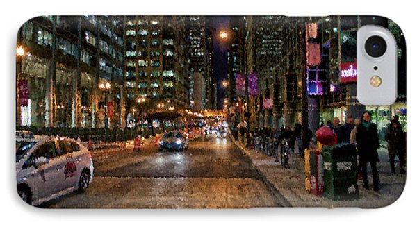Chicago November Night Pa 04 IPhone Case by Thomas Woolworth