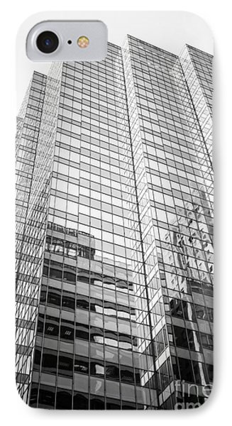 Chicago Office Building  Black And White Photo IPhone Case by Paul Velgos