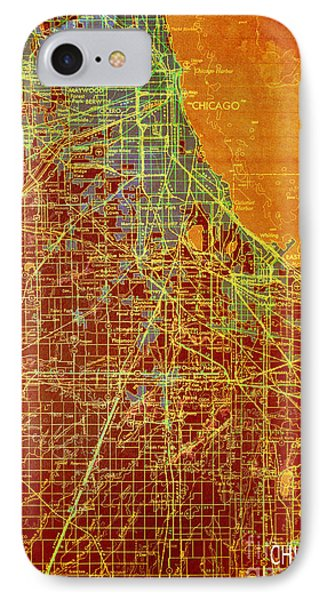 Chicago Old Map IPhone Case