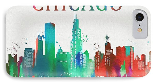 Chicago Paint Splatter IPhone Case by Dan Sproul