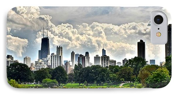 Chicago Panorama Over Lincoln Park IPhone Case