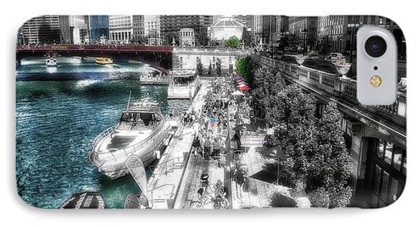 Chicago Parked On The River Walk 03 Sc IPhone Case by Thomas Woolworth