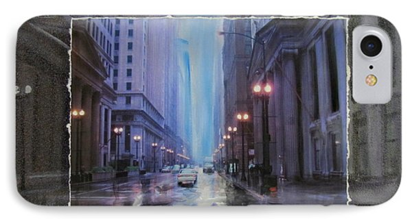 Chicago Rainy Street Expanded Phone Case by Anita Burgermeister