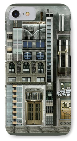 Chicago Reconstruction 1 IPhone Case by Joan Ladendorf