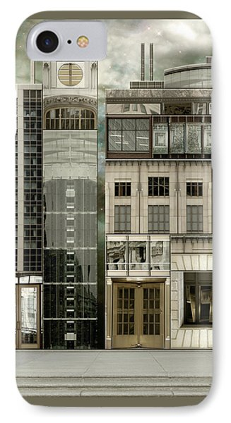 Chicago Reconstruction 2 IPhone Case by Joan Ladendorf