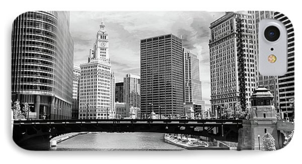 Chicago River Buildings Skyline IPhone Case
