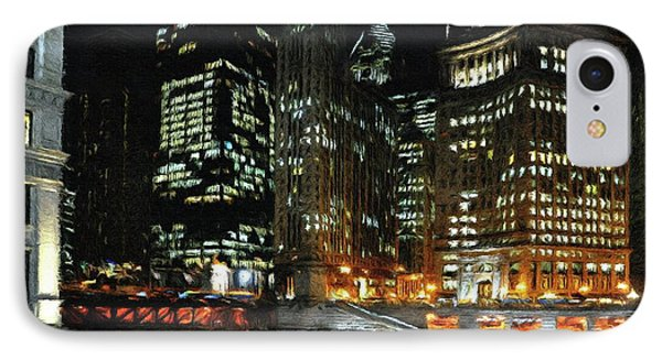 Chicago River Crossing Phone Case by Jeff Kolker